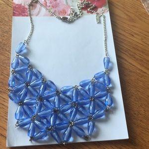 😀Statement necklace,bib necklace beautiful blue
